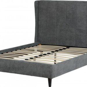 Amelia Dark Grey Fabric Bed Frame