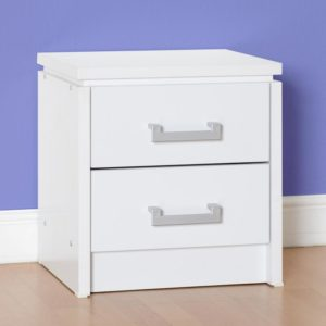 Charley White 2 Drawer Bedside
