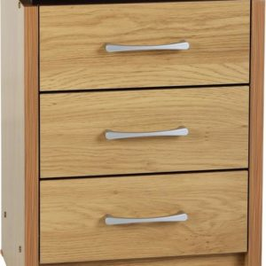 Charles 3 Drawer Bedside