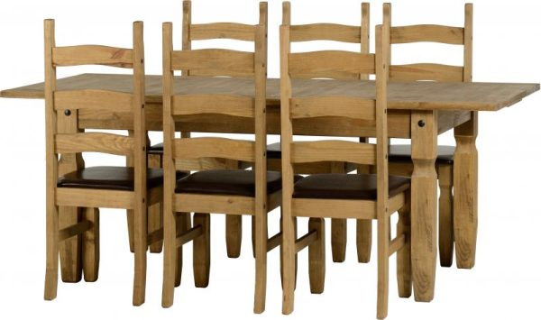 Corona Extending Dining Set - 6 Chairs 1