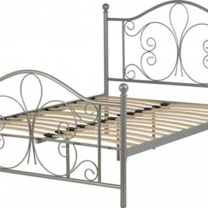 Annabel Silver Metal Bed Frame