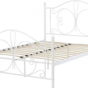 Annabel White Metal Bed Frame