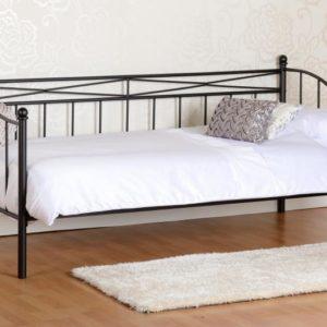 Pandora Black Metal Day Bed Frame