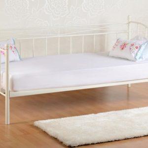 Pandora White Metal Day Bed Frame