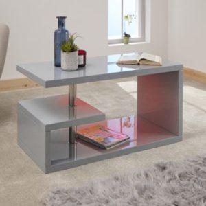 Polar Gloss Grey Led Coffee Table
