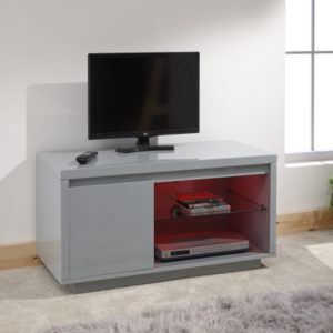 Polar Gloss Grey Led Tv Stand