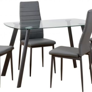 Abbey Grey Glass Dining Set