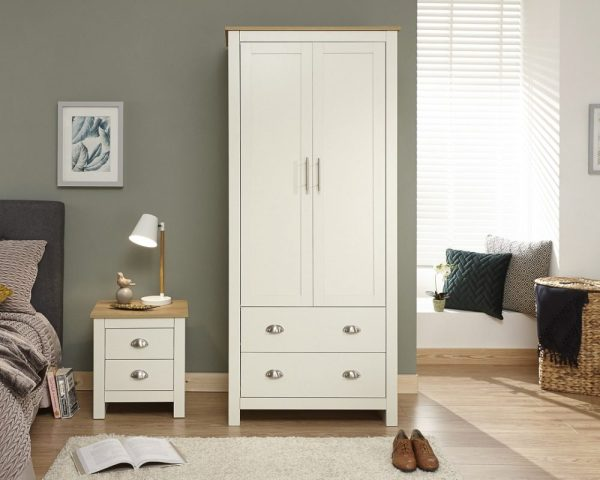 Lancaster Cream 2 Door Wardrobe
