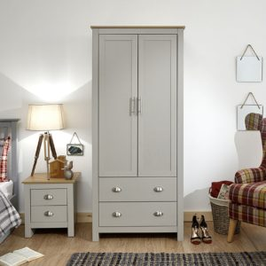 Lancaster Grey 2 Door Wardrobe