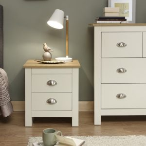 Lancaster Cream 2 Drawer Bedside