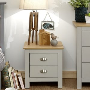 Lancaster Grey 2 Drawer Bedside