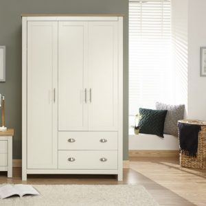 Lancaster Cream 3 Door Wardrobe