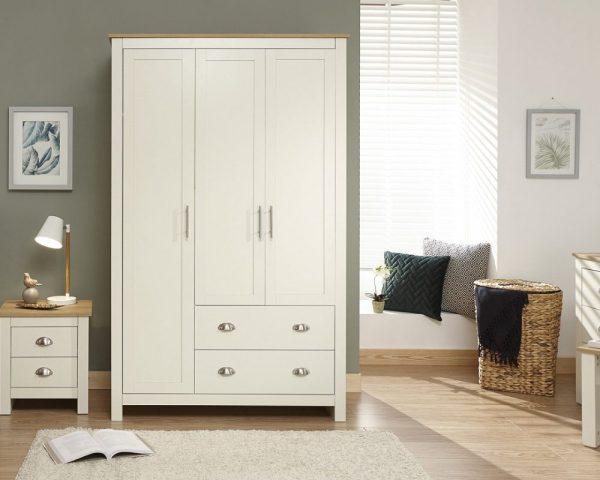Lancaster Cream 3 Door Wardrobe