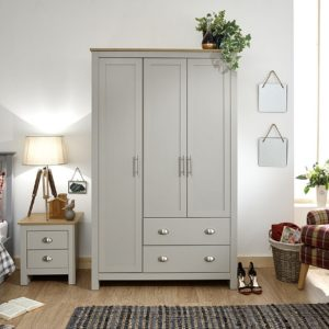 Lancaster Grey 3 Door Wardrobe
