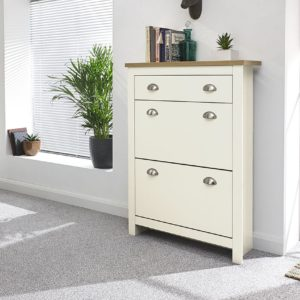Lancaster Cream 2 Door 1 Draw Shoe Cabinet