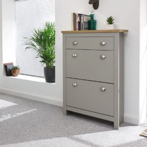 Lancaster Grey 2 Door 1 Draw Shoe Cabinet