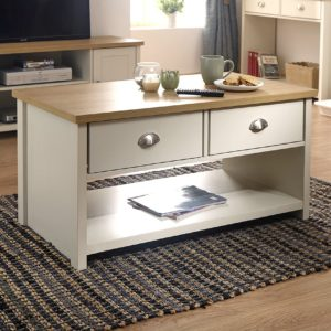 Lancaster Cream 2 Drawer Coffee Table