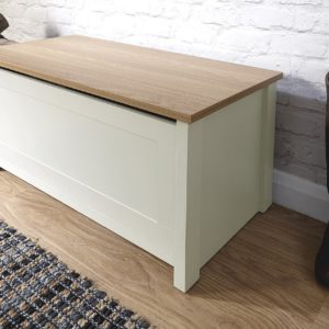 Lancaster Cream Ottoman Storage Bench