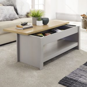 Lancaster Grey Sliding Top Storage Coffee Table