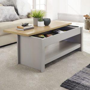 Lancaster Grey Sliding Top Storage Coffee Table