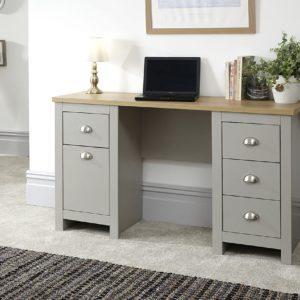 Lancaster Grey Study Desk
