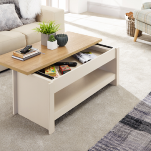 Lancaster Cream Sliding Top Storage Coffee Table