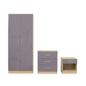 Dakota Grey Gloss Bedroom Set
