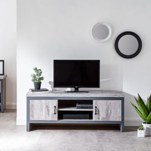 Boston Rustic Grey Tv Stand