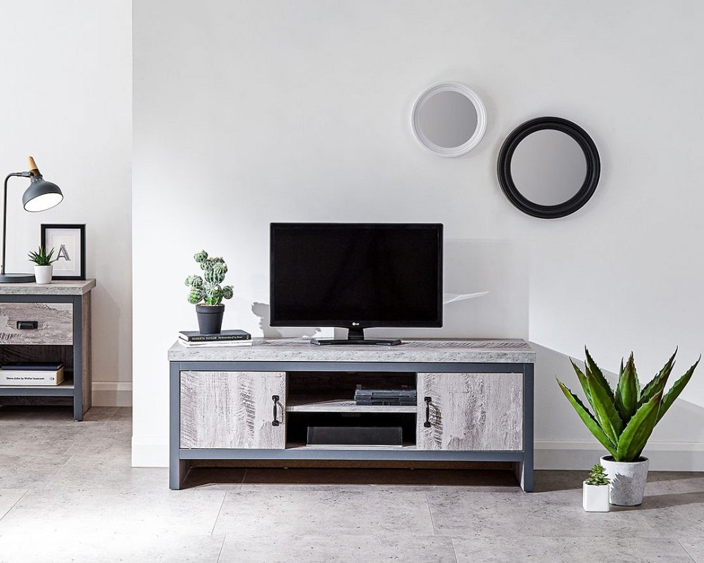 Boston Rustic Grey Tv Stand One Stop Furniture Online