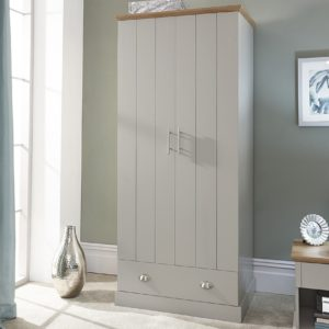 Kendal Grey 2 Door 1 Drawer Wardrobe