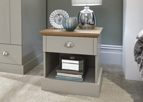Kendal Grey 1 Drawer Bedside