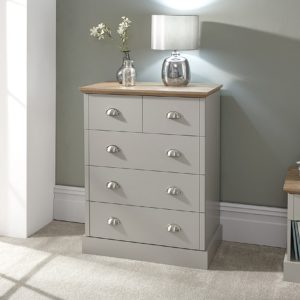 Kendal Grey 2 + 3 Drawer Chest