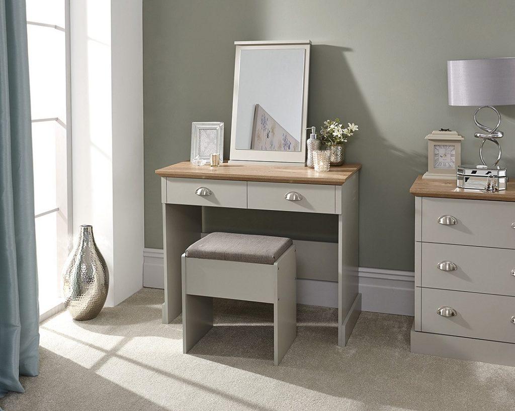Kendal Grey 2 Drawer Dressing Table Set