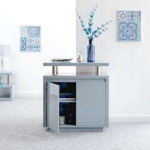Polar Gloss Grey Led Sideboard