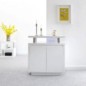 Polar Gloss White Led Sideboard