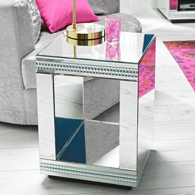 Biarritz Mirrored Lamp Table