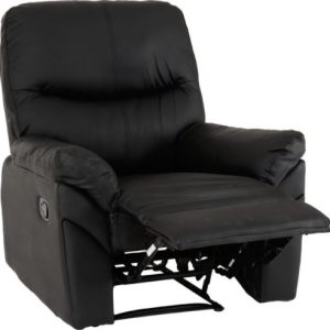 Capri Black Faux Leather Reclining Chair