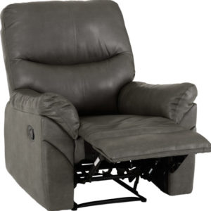 Capri Grey Faux Leather Reclining Chair