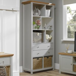 Cotswold Grey Large Bookcase