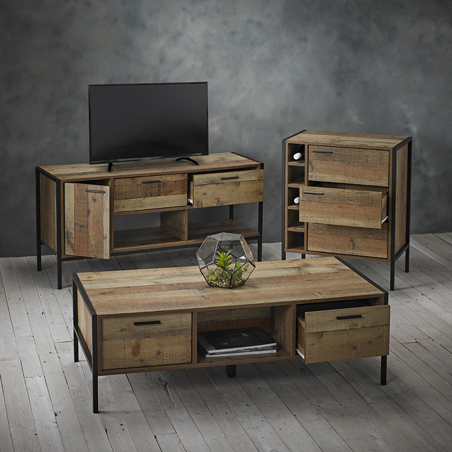 Hoxton Rustic 2 Draw Coffee Table One