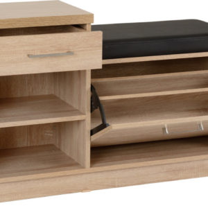 Lisbon Oak Veneer Mini Shoe Storage