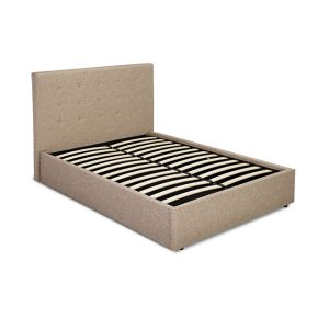 Lucca Beige Fabric Bed Frame