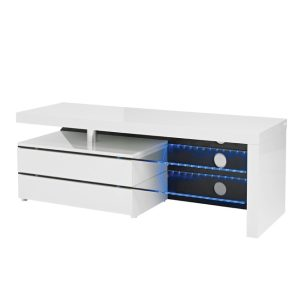 Milano Gloss White Large Tv Stand