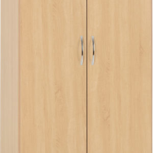 Nevada Oak Veneer 2 Door 1 Draw Wardrobe