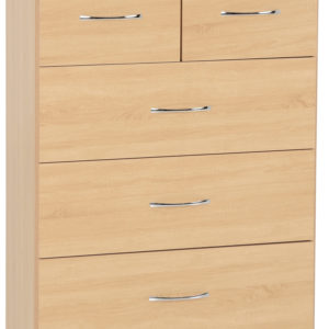 Nevada Oak Vaneer 3 + 2 Drawer Chest