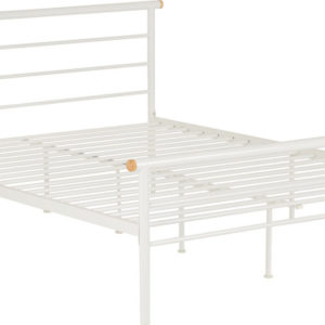 Orion White Metal Bed Frame