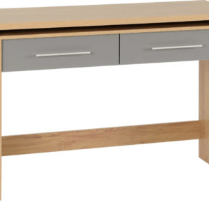 Seville Grey Gloss 2 Drawer Desk