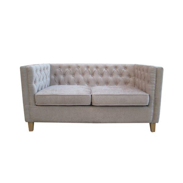 York Mink Fabric 2 Seater Sofa