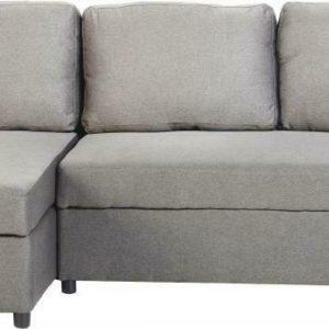 Dora Light Grey Fabric Corner Sofa Bed