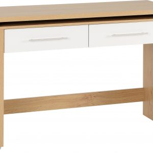 Seville White Gloss 2 Drawer Desk